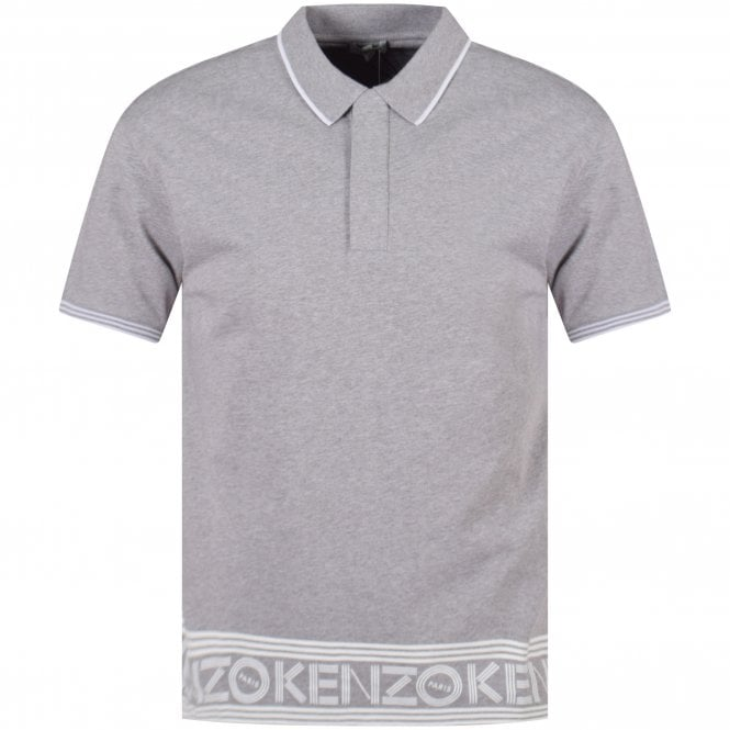 3eabcb26 KENZO Kenzo Grey Logo Polo Shirt - Department from Brother2Brother UK