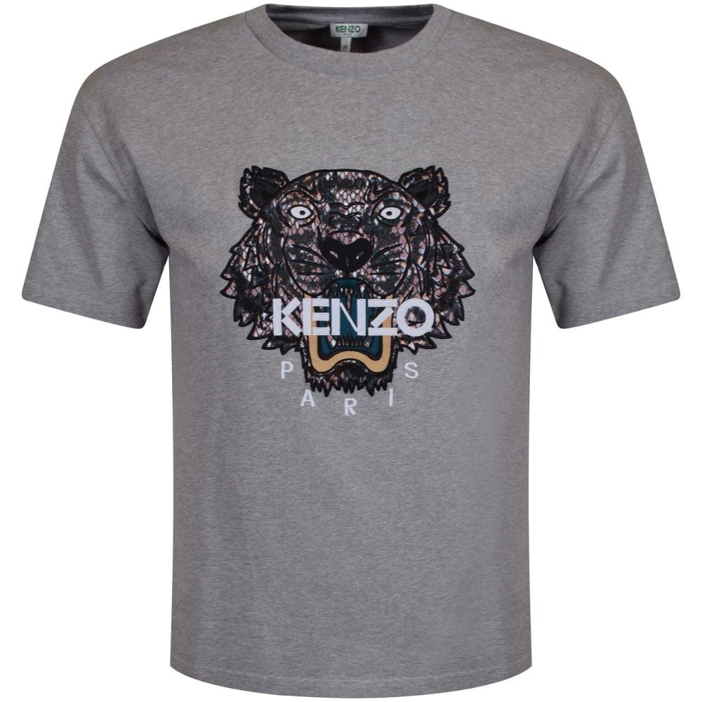 kenzo kenzo grey tiger logo t shirt men from brother2brother uk. Black Bedroom Furniture Sets. Home Design Ideas