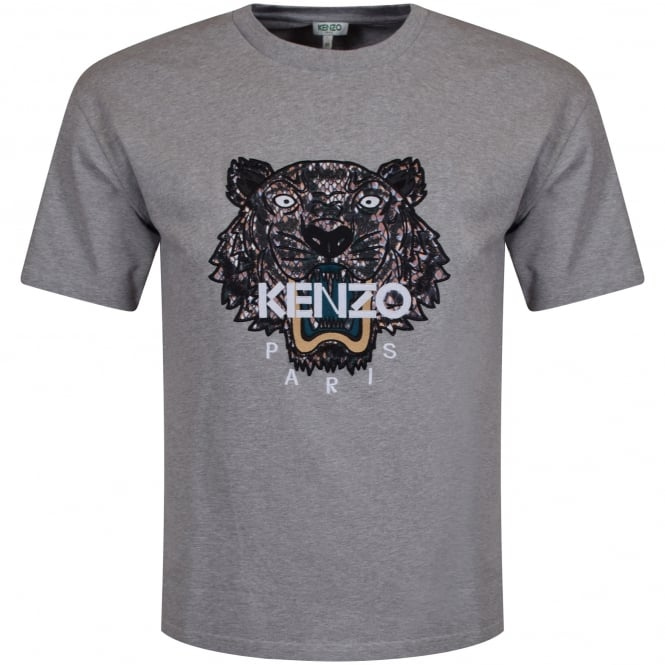 KENZO Kenzo Grey Tiger Logo T-Shirt - Men from Brother2Brother UK c6363a6f5e7