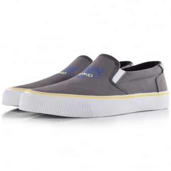 Kenzo Grey Tiger Slip On Trainers