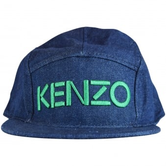 Kenzo Junior Blue/Green Logo Snapback Cap