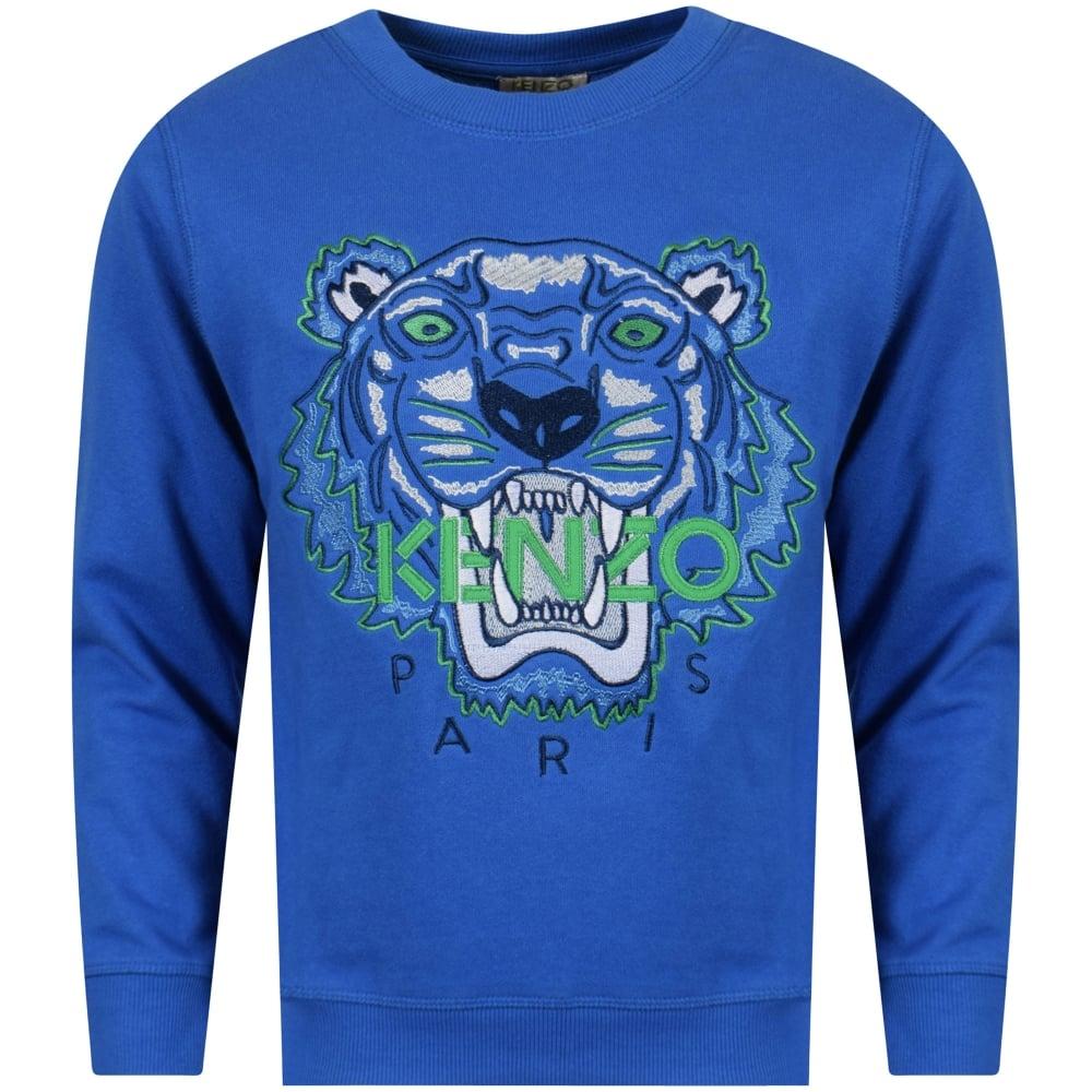 acd5599e KENZO JUNIOR Kenzo Junior Blue Tiger Sweatshirt - Junior from ...