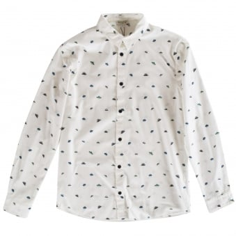 Kenzo Kids White All Over Spaceship Long Sleeve Shirt