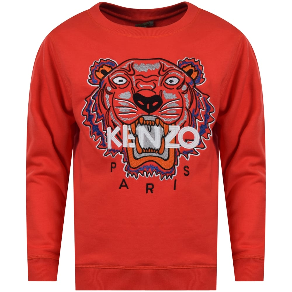 60c998751 KENZO JUNIOR Kenzo Junior Paprika Red Tiger Crew Neck Sweatshirt ...