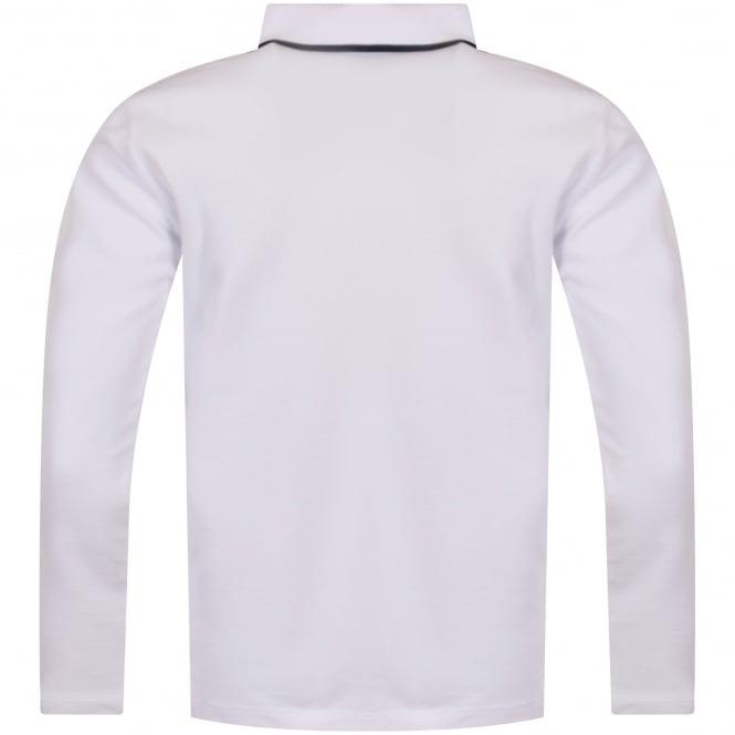 009bb035af3e8 KENZO JUNIOR Kenzo Junior White Tiger Logo Long Sleeve Polo Shirt ...