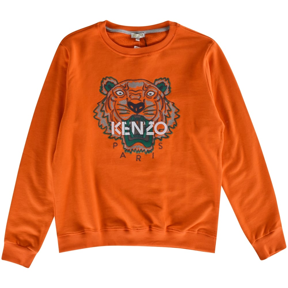 ab5eaeef6ee6 KENZO JUNIOR Kenzo Kids Orange Tiger Crew Neck Sweatshirt - Junior from  Brother2Brother UK
