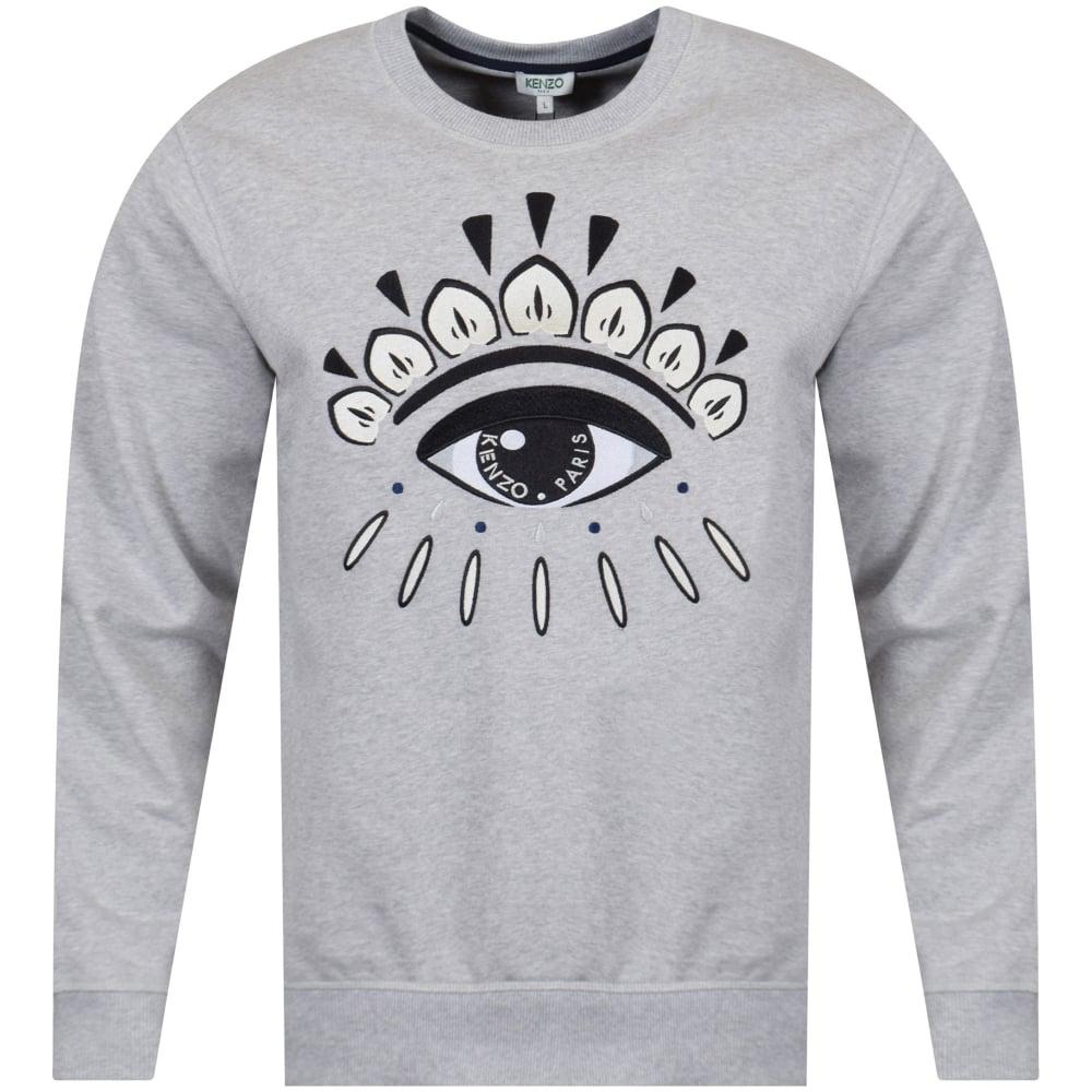 c9682718263f KENZO Kenzo Light Grey Eye Logo Sweatshirt - Men from Brother2Brother UK