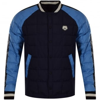 Kenzo Navy/Blue Contrast Quilted Bomber Jacket