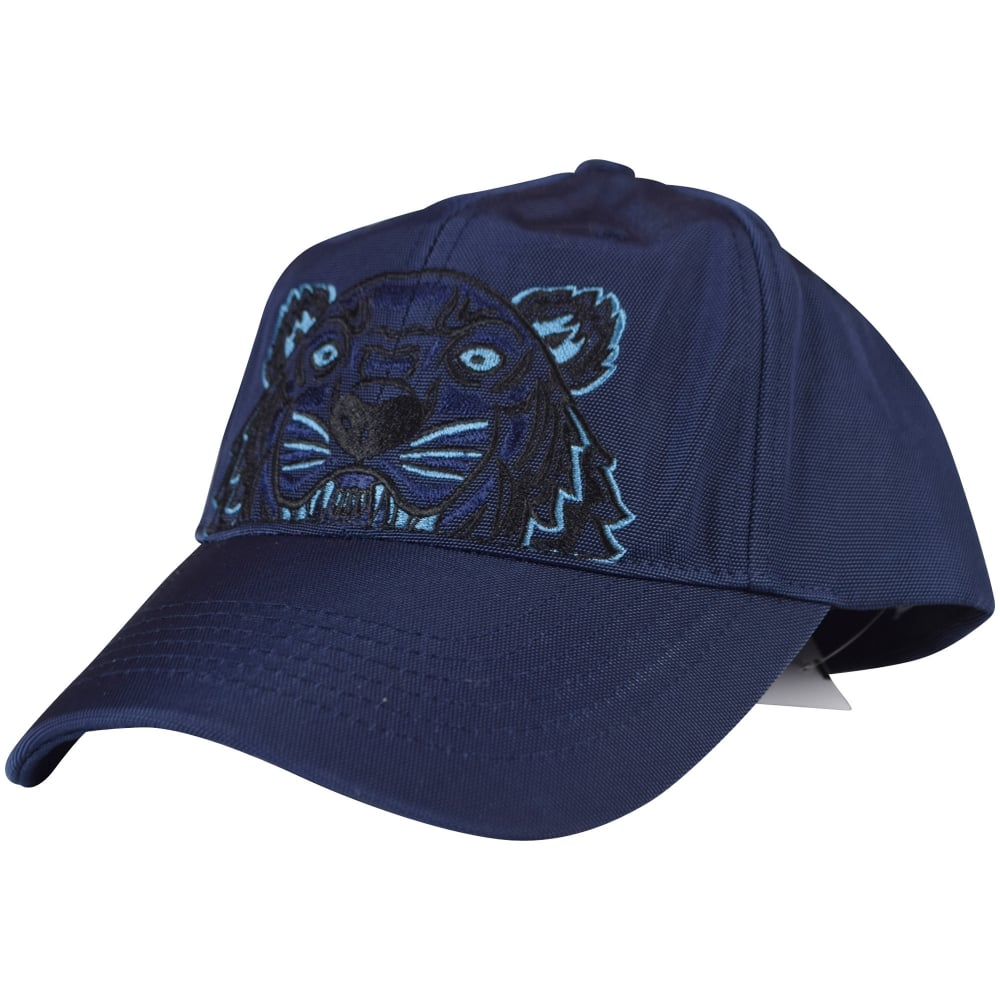 KENZO Kenzo Navy Blue Tiger Logo Cap - Men from Brother2Brother UK ed8b71fde86