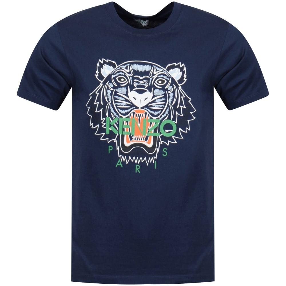 71db5c75 KENZO Navy Classic Tiger Print T-Shirt - Department from ...