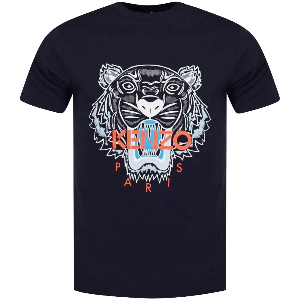a46d6401c0 Navy/Orange Tiger Logo T-Shirt