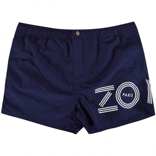 0cd1202778 KENZO Kenzo Navy Text Logo Swim Shorts - Men from Brother2Brother UK