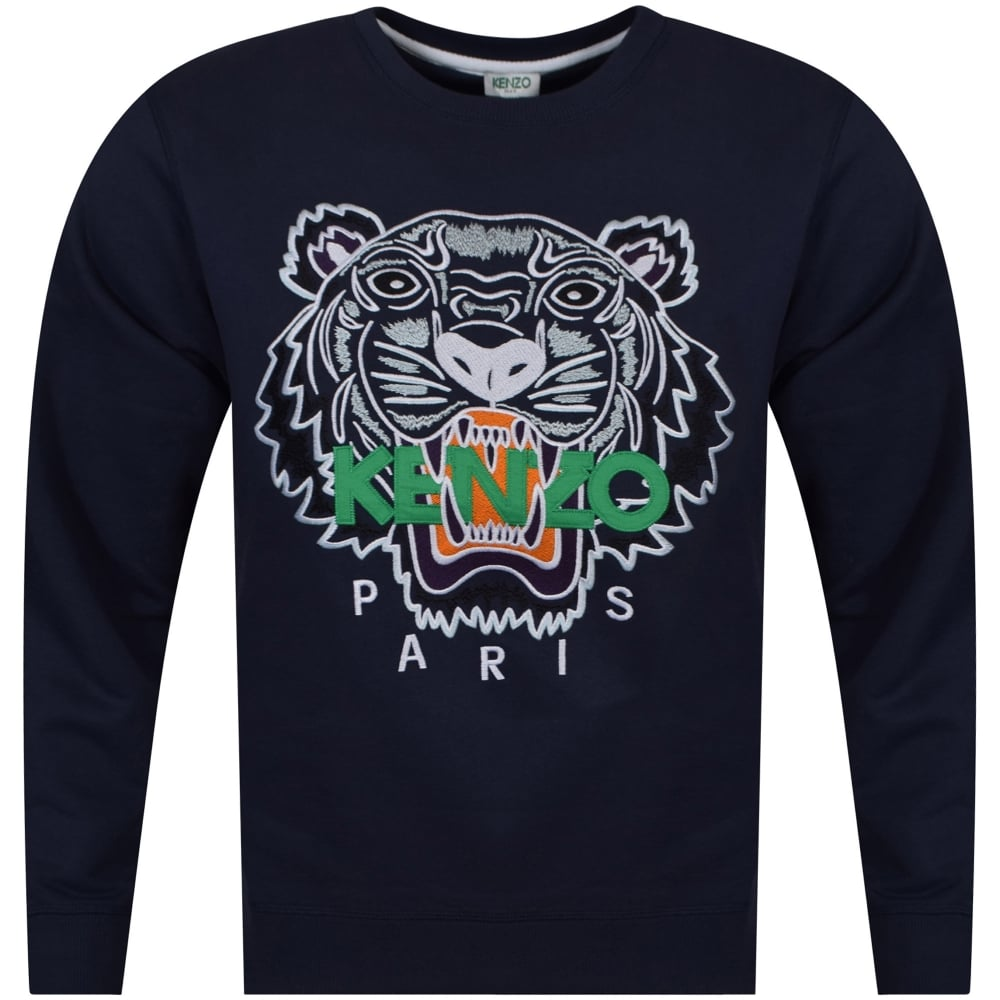 54015a63ae05 KENZO Kenzo Navy Tiger Logo Sweatshirt - Men from Brother2Brother UK