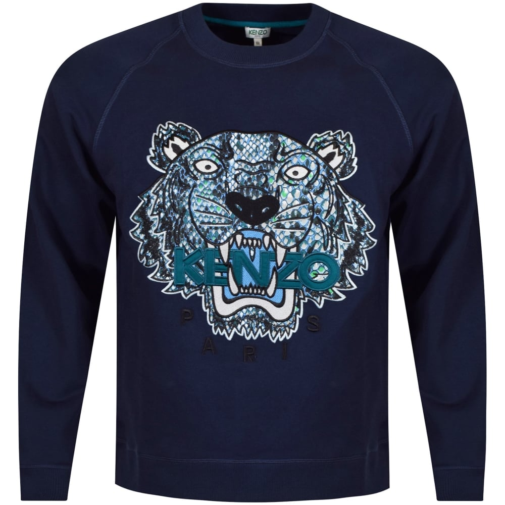 d4f4a584 KENZO Kenzo Navy Tiger x Snake Logo Sweatshirt - Department from ...