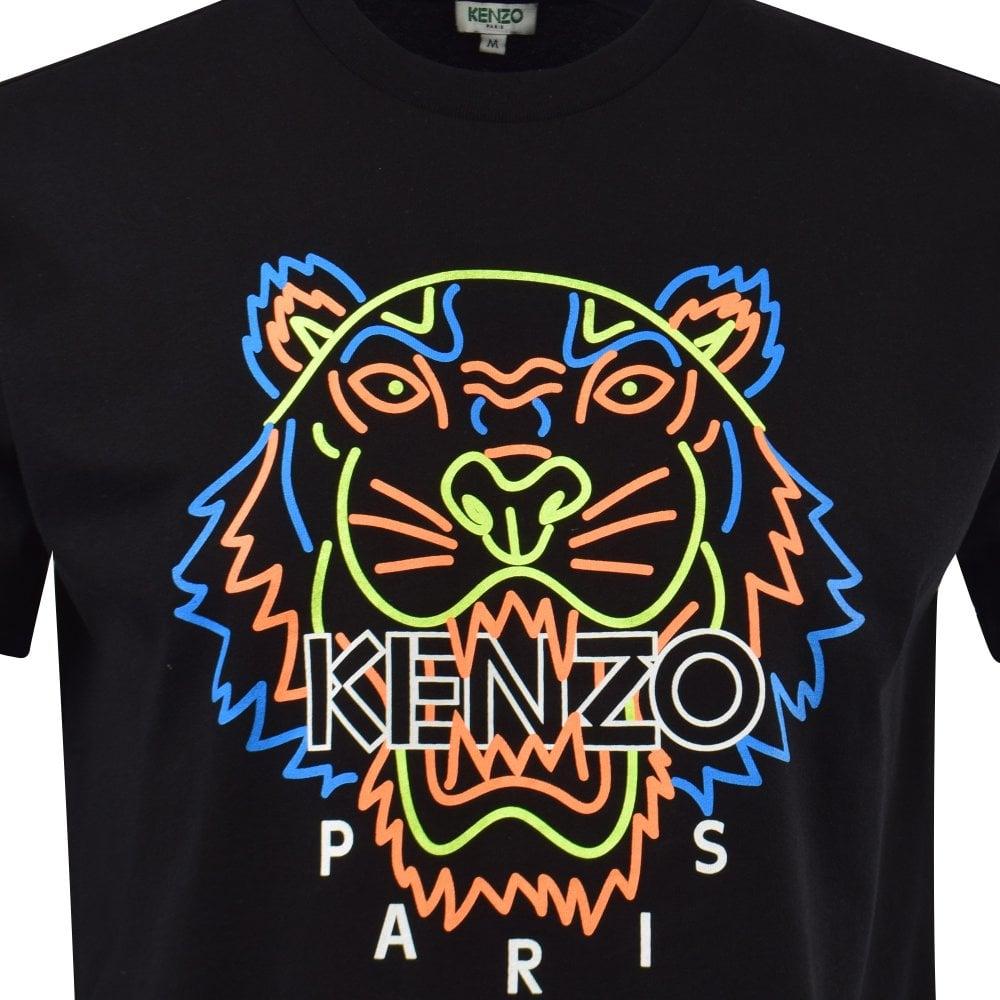 Neon Tiger Print T-Shirt