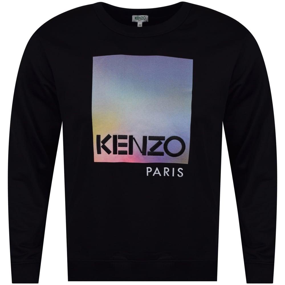 e27cb810 KENZO Kenzo 'Northern Lights' Design Black Sweatshirt - Department ...