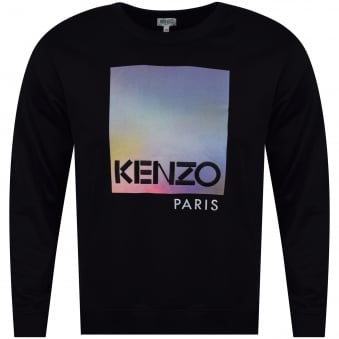 Kenzo 'Northern Lights' Design Black Sweatshirt