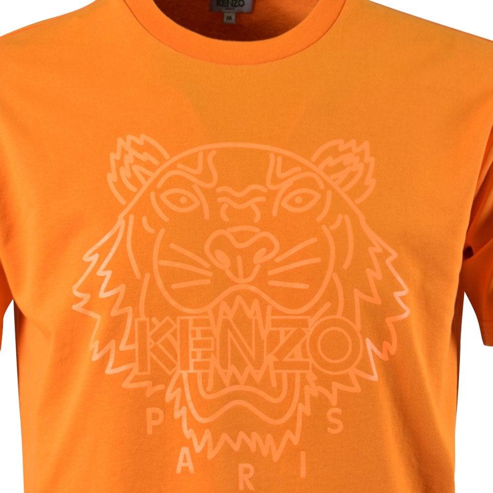 6dbe0f29 Orange Neon Tiger Logo T-Shirt