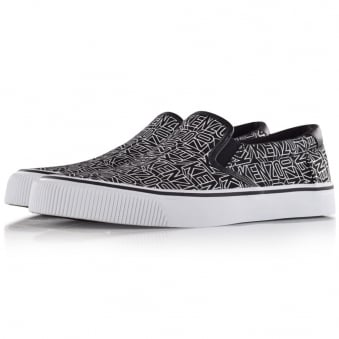 Kenzo Paris Trainers All over Print Black Slip on Trainer