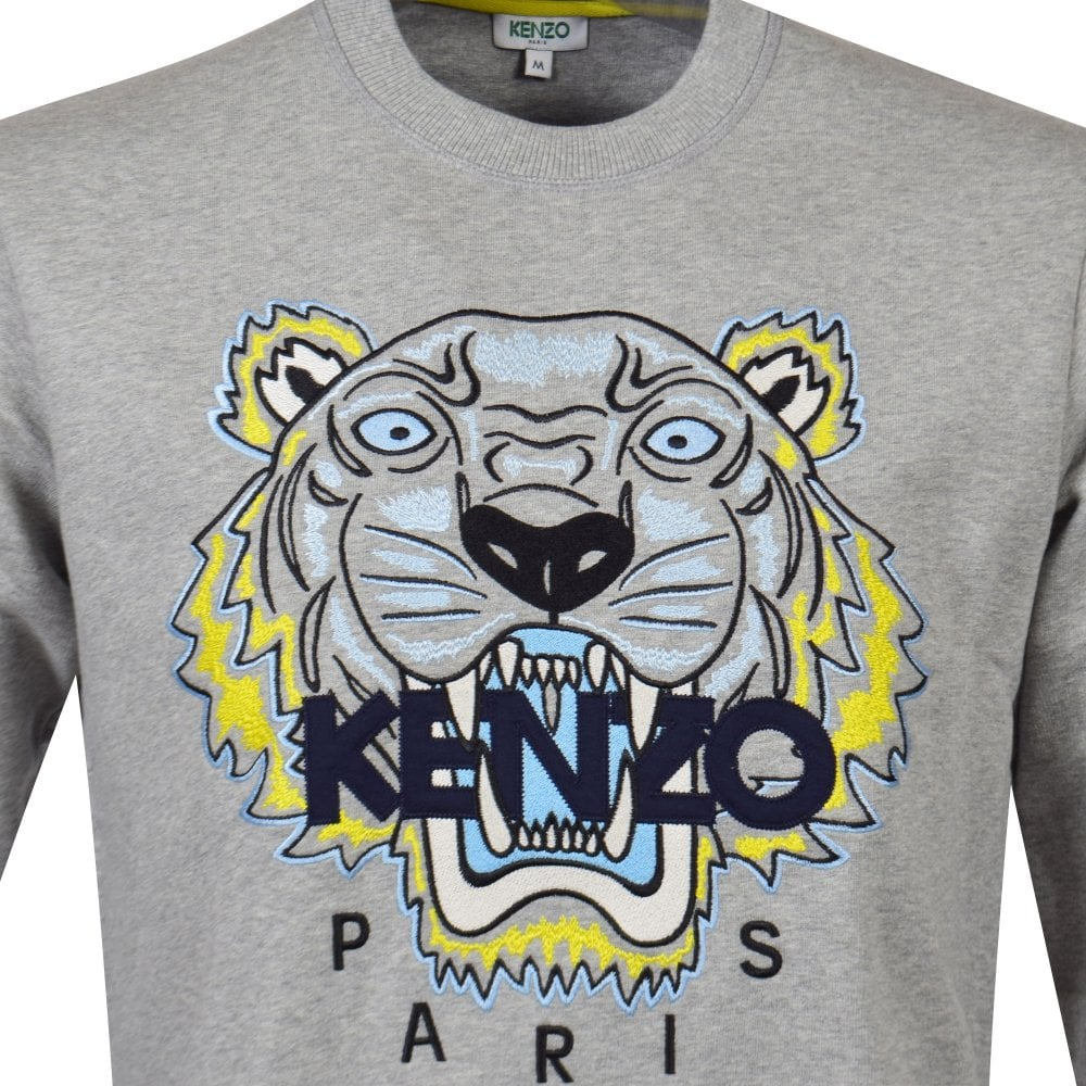 5fdcd2222 KENZO Pearl Grey Tiger Sweatshirt - Department from Brother2Brother UK