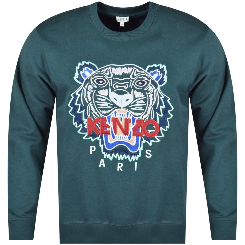 74cadc71b6d1 KENZO Kenzo Pine Green Tiger Sweatshirt - Men from Brother2Brother UK