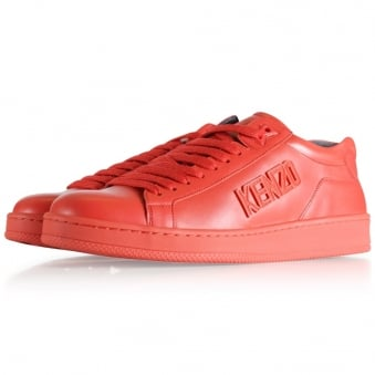 Kenzo Red Tennix Low Trainers
