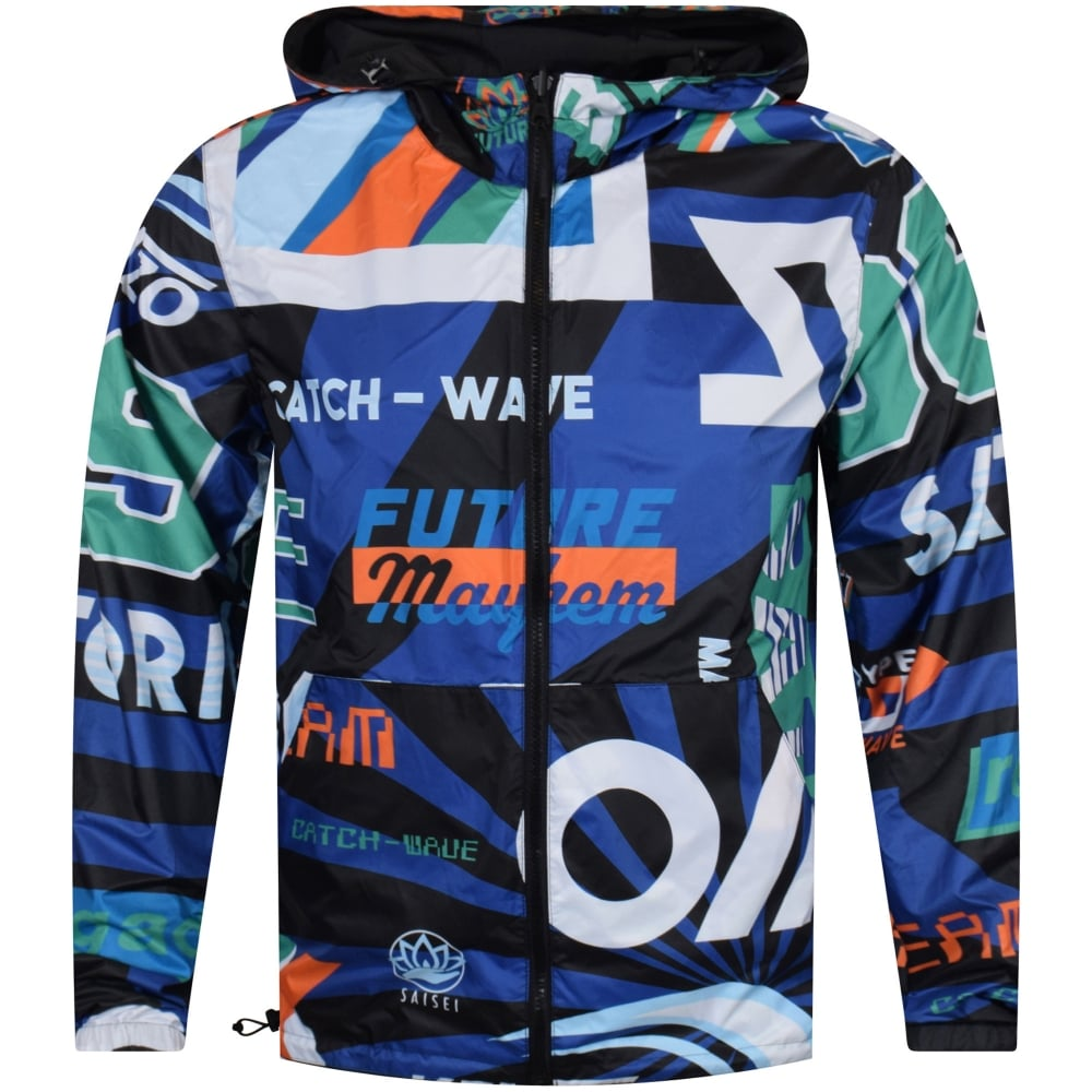 d58604d1 Reversible Black/Printed Windbreaker Jacket