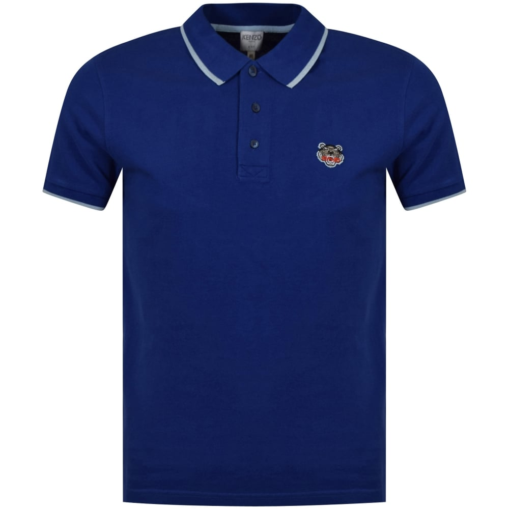 0bd5a531 KENZO Kenzo Royal Blue Chest Logo Polo Shirt - Department from ...