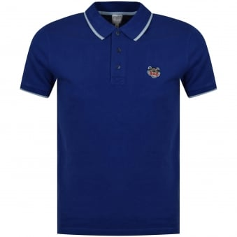Kenzo Royal Blue Chest Logo Polo Shirt