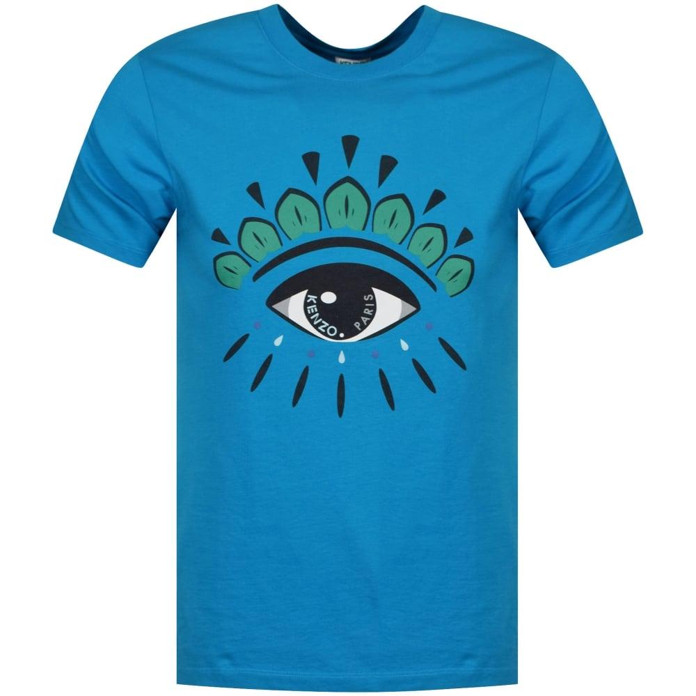 7cfdb7db82 KENZO Kenzo Turquoise Eye Logo T-Shirt