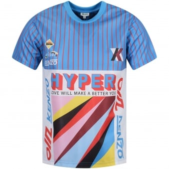 Turquoise Stripe Graphic T-Shirt