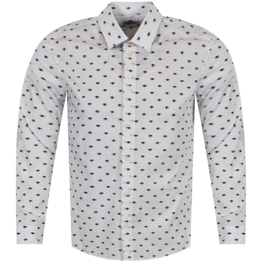 f2842e096 KENZO Kenzo White/Black Eye Logo Shirt - Department from ...