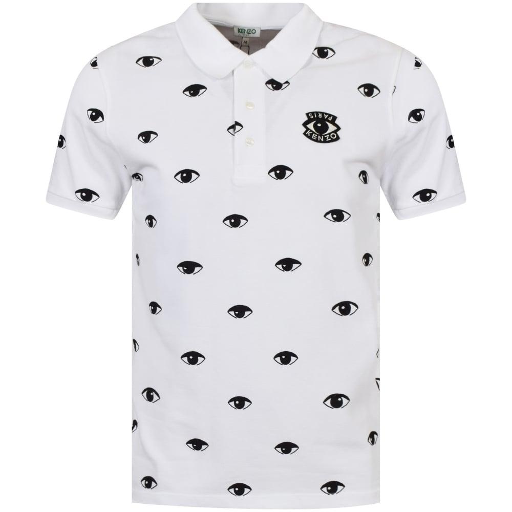 4022f7547 KENZO Kenzo White Eye Logo Polo Shirt - Department from ...