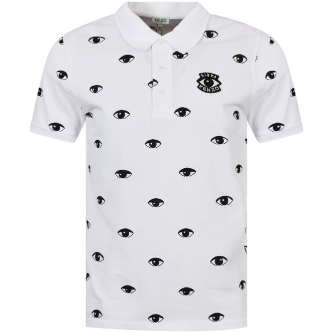 dc6d9c529 KENZO Kenzo White Eye Logo Polo Shirt - Department from ...