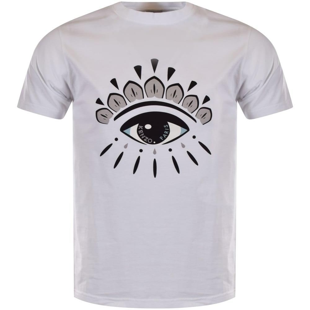 2dbda0ad KENZO Kenzo White Eye Logo T-Shirt - Department from Brother2Brother UK