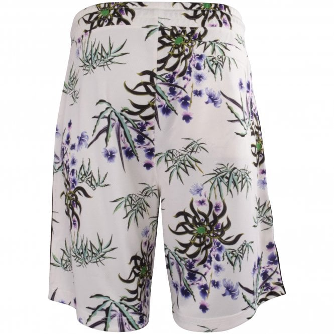 KENZO White Floral Track Shorts Reverse