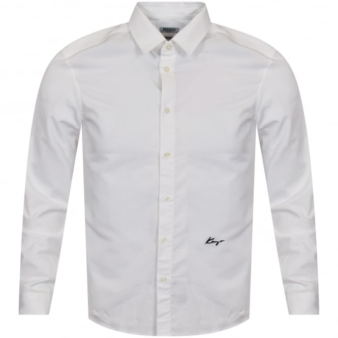 KENZO White Logo Long Sleeved Shirt