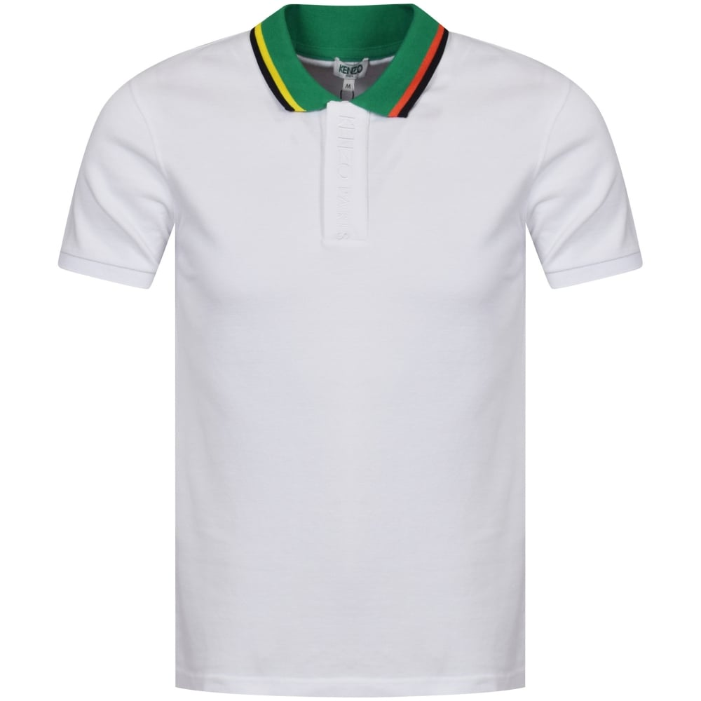 4e0801b6a5 KENZO Kenzo White Placket Embroidered Polo Shirt - Department from ...