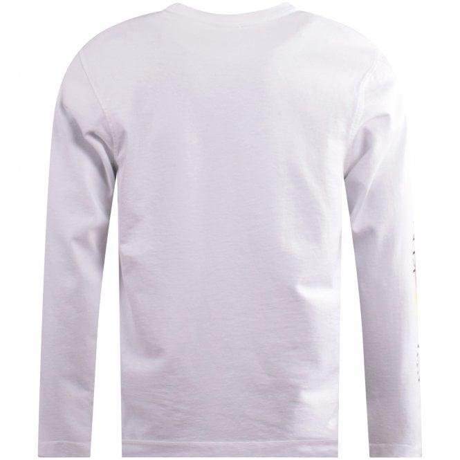 KENZO White Skater Fit LS Cupid T-Shirt Reverse