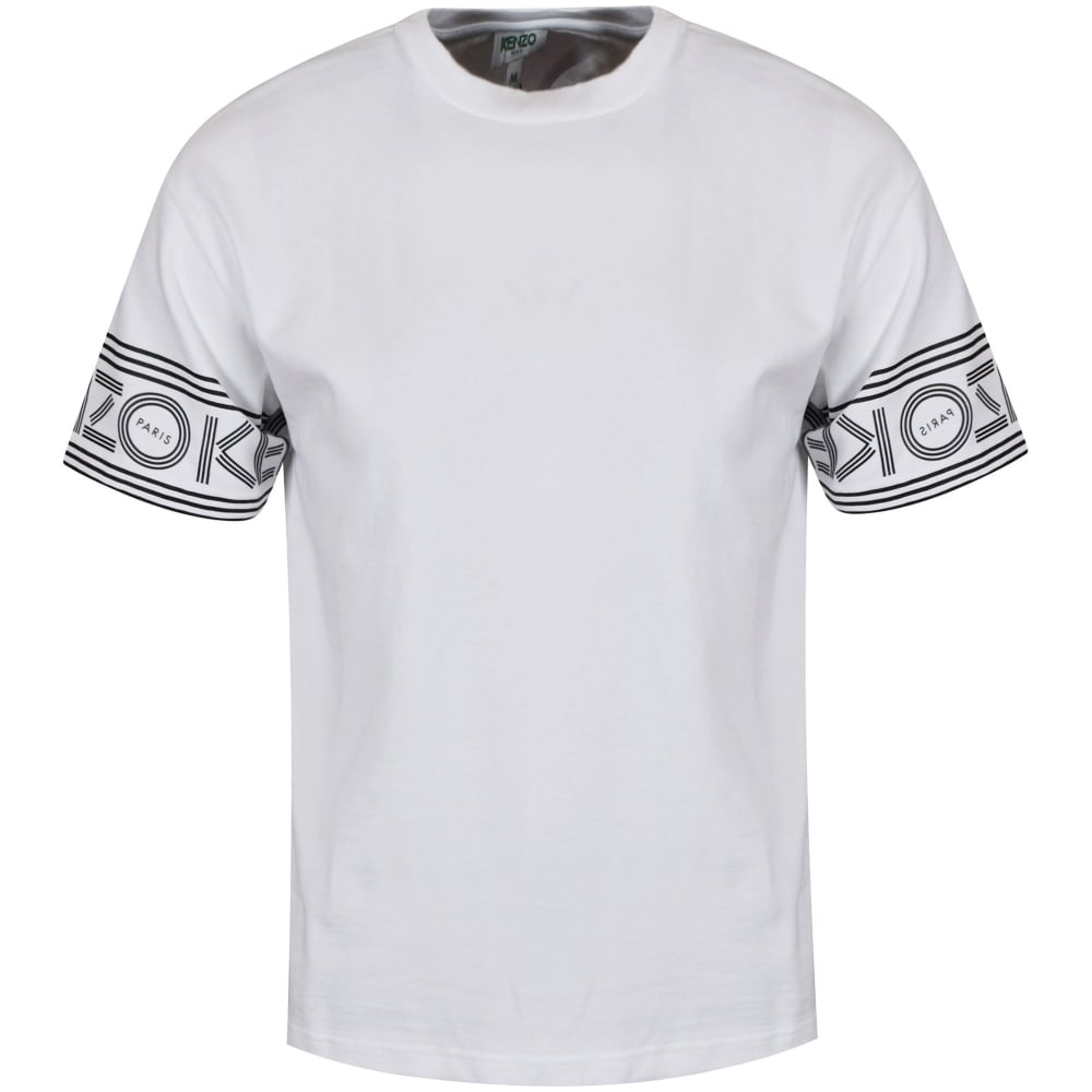 kenzo kenzo white sleeve text logo t shirt men from brother2brother uk. Black Bedroom Furniture Sets. Home Design Ideas