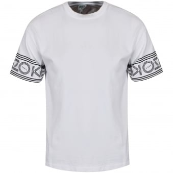 Kenzo White Sleeve Text Logo T-Shirt