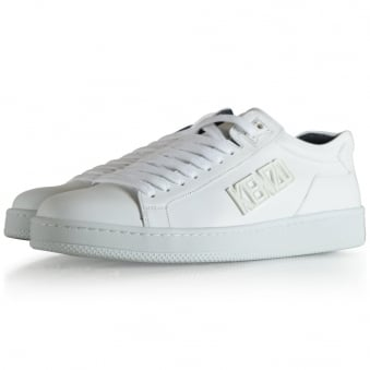 Kenzo White Tenniox Low Trainers