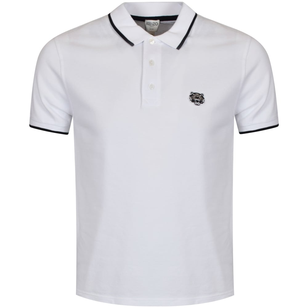 60b6da8504fa KENZO Kenzo White Tiger Logo Polo Shirt - Men from Brother2Brother UK