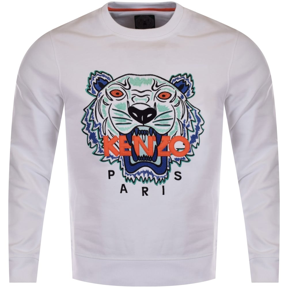 KENZO Kenzo White Tiger Logo Sweatshirt - Men from Brother2Brother UK 5aaa3f32056