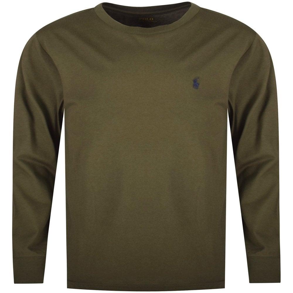 309fb47ccd3bee POLO RALPH LAUREN JUNIOR Khaki Classic Logo Long Sleeve T-Shirt ...