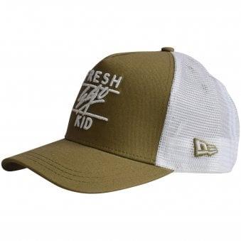 2c0681883e9 Khaki White Mesh Trucker Cap