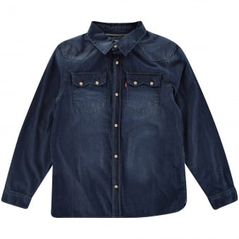 Levis Boys Long Sleeved Denim Shirt