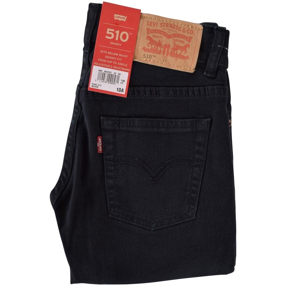 c93d2faef74 LEVIS JUNIOR Levis Junior Black 510 Skinny Fit Jeans - Junior from ...