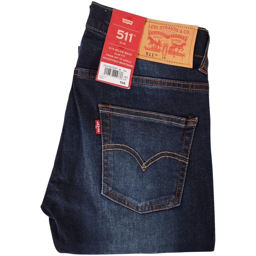 d540bf0c4fb7 LEVIS JUNIOR Levis Junior Dark Wash Indigo 511 Slim Fit Jeans ...