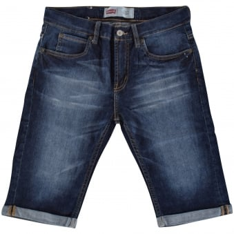 Levis Junior Dark Wash Slim Fit Shorts